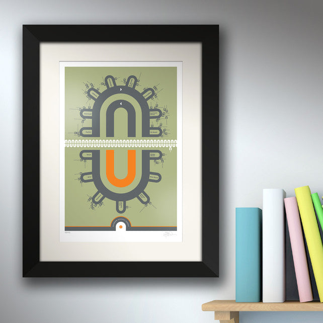 Glasgow District Subway V2 - Prints - Breuk - 1