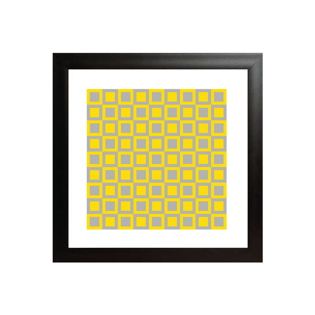 Grey Yellow Square