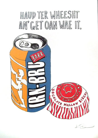 Irn Bru and Tunnocks
