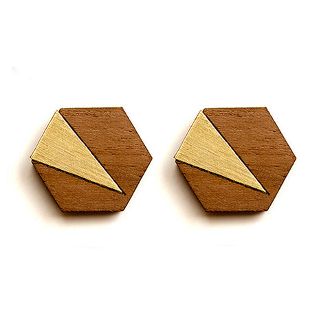 Jennifer earrings - copper, steel or brass