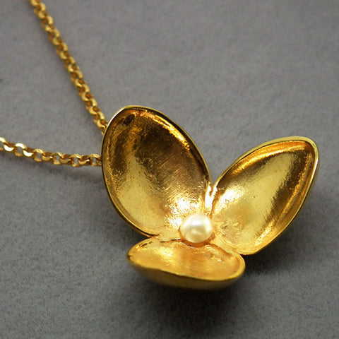 Japanese Coffee Spoon Flower pendant