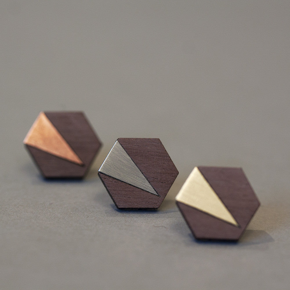 Jennifer earrings - copper, steel or brass - Jewellery - Turpentine - 1