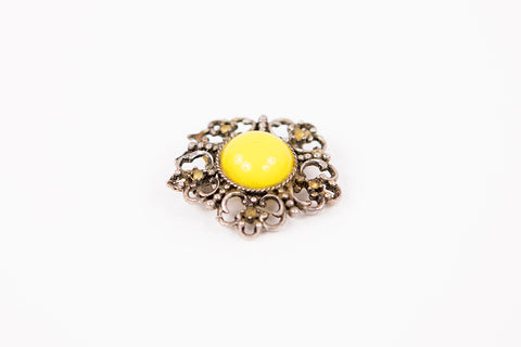 Vintage Brooch Yellow by Mrs Peeler's Dress
