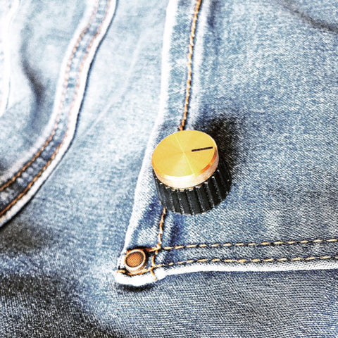 Amp Knob Pin Brooch