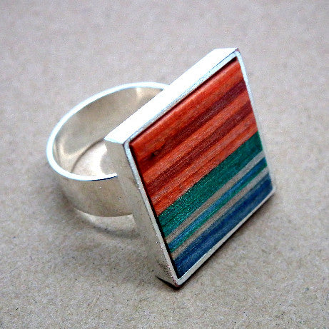 Skateboard square ring
