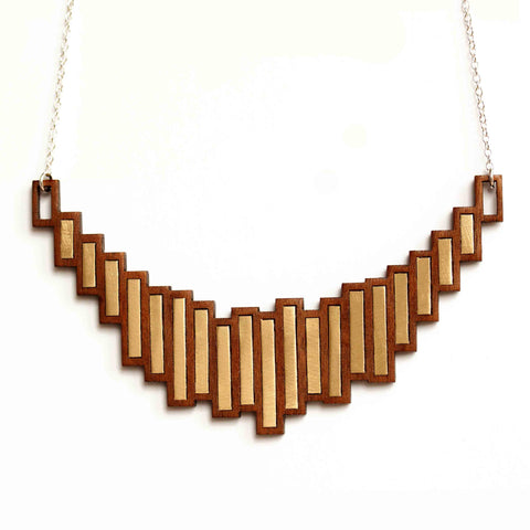 Stella necklace - brass