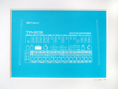 TR-909 screenprint - Limited Edition