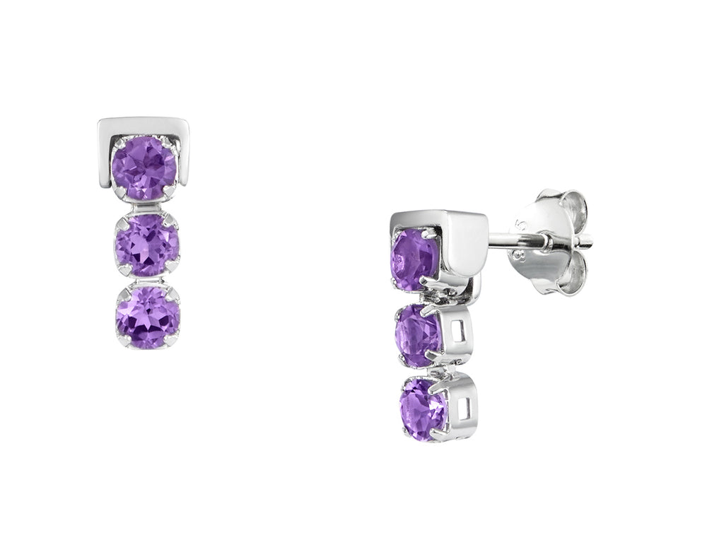 Tsai Tsai San Shi Amethyst Stud Earrings