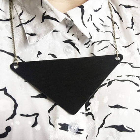 Vinyl Record Chevron Necklace