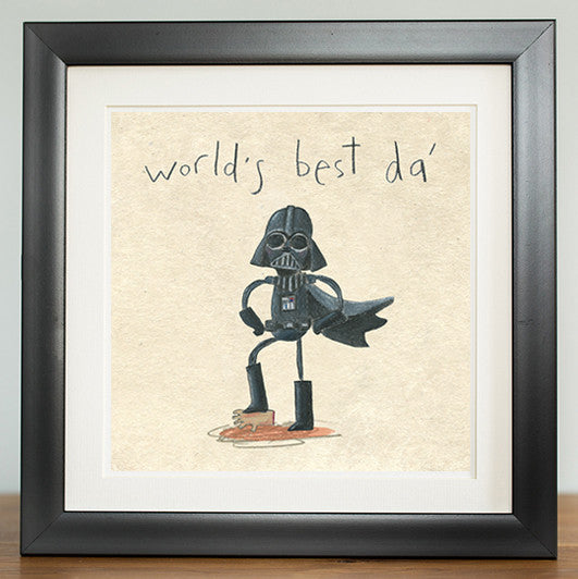 World's Best Da' print - Prints - The Grey Earl
