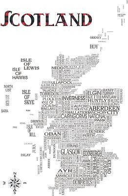 Scotland Satnav - Prints - Dead Famous Cities - 1