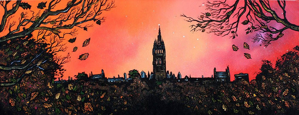 Glasgow University Dusk - Prints - Andy Peutherer