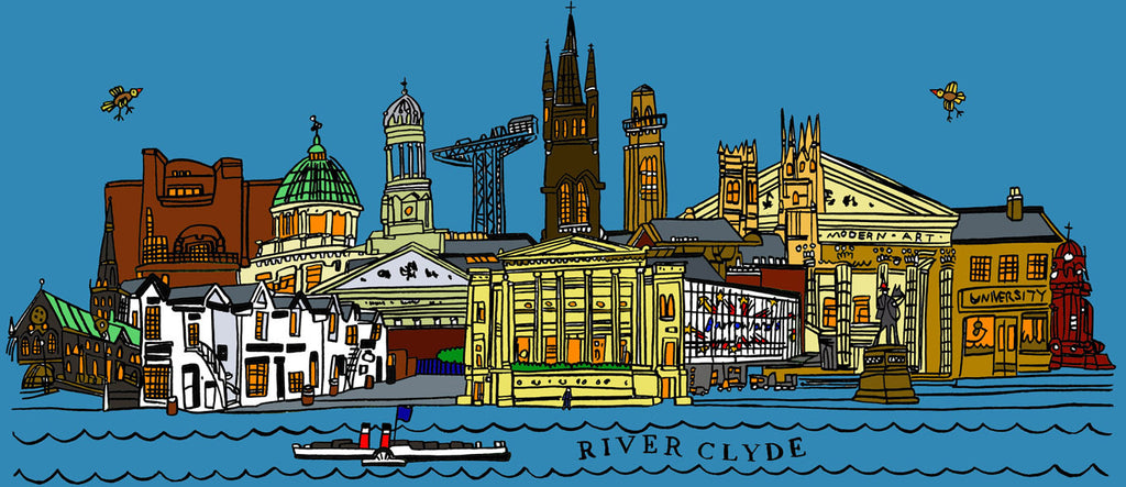 Glasgow Skyline - Prints - Adrian McMurchie