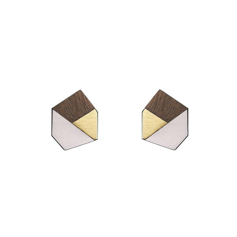 Gwen Formica Studs - Rose