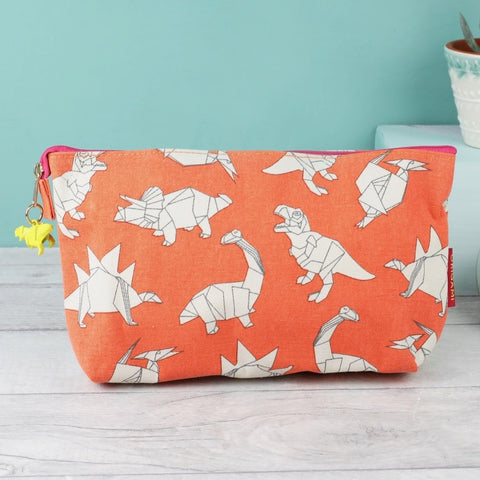 Origami Dinosaur Make Up Bag