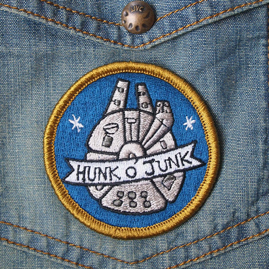 Hunk o' Junk - embroidered brooch