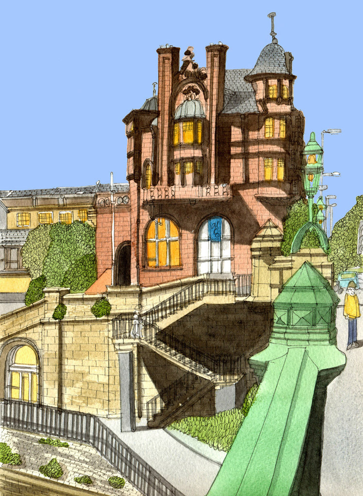 Kelvinbridge Mansions - Prints - Adrian McMurchie