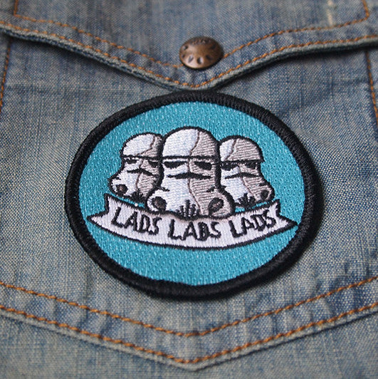 Lads Lads Lads - embroidered brooch
