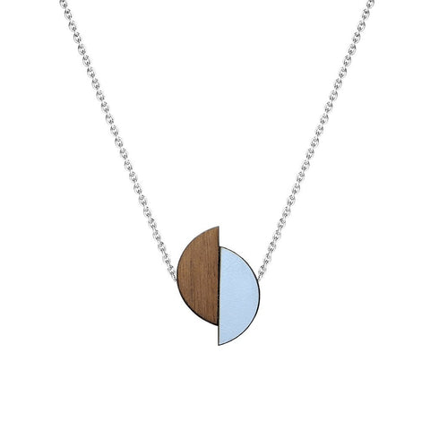 Lizzie reversible formica necklace - Peaceful Blue
