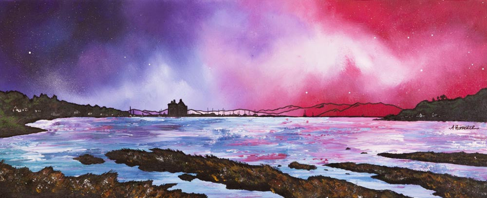 Lochranza Castle Dusk, Isle of Arran - Prints - Andy Peutherer