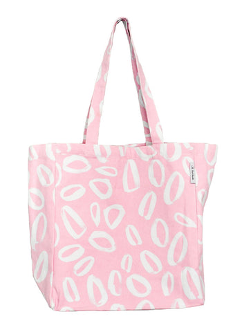 Pink over sized tote bag