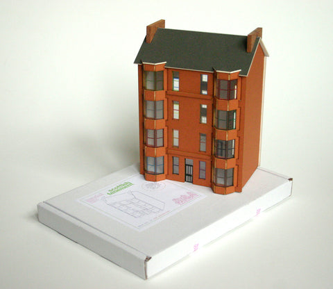Scottish Tenement Kits - Red sandstone