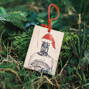 Bertha wooden Christmas gift tag