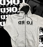 Backwards Zipper Hooded Sweatshirt