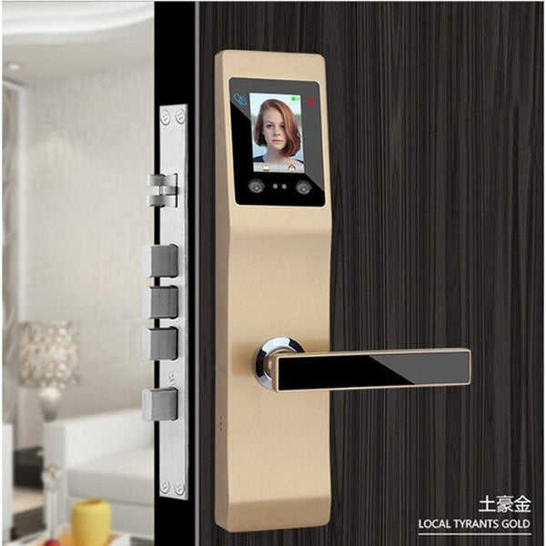 Smart-Door Lock Face Recognition-Fingerprint-Password-Mechanical Key-RFID Card