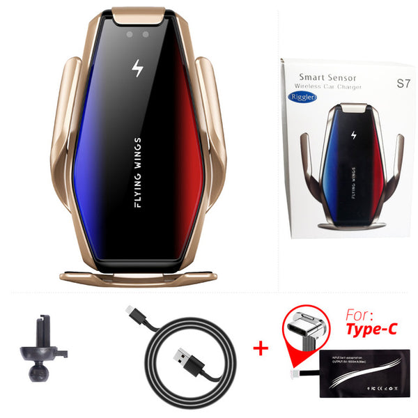 Super Capacity Car 15W Wireless Charger Automatic Fast Charging