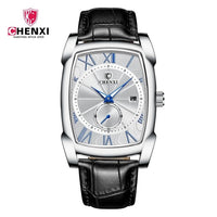Men Watch Quarts Stainless Steel  Waterproof-Genuine Leather Band