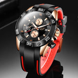 Men Sport Watch Quartz Mesh Stainless Steel Date Waterproof