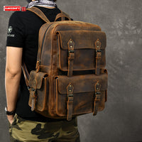 Men Backpack Computer & Travel Bag-Genuine Leather