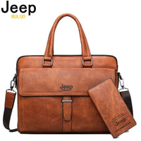 Men Briefcase Laptop Bag Leather-13.3 inch Laptop