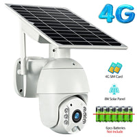 Voice Intrusion Alarm Solar HD Camera  4G WiFi Dual Audio HD