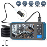 Inspection Endoscope-Camera- 8mm-Dual Lens1080p-4.5 Inch Screen-5M