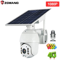 Outdoor 4G CCTV Solar Ptz Camera Auto Tracking Remote Control