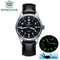 Pilot Watch Automatic Mechanical Sapphire Crystal