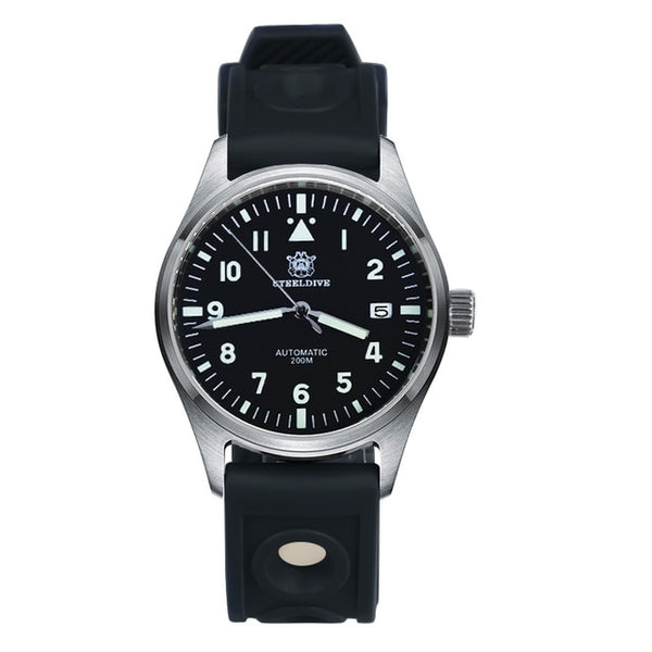 Pilot Watch Mechanical Automatic M Stainless Steel 20 Bar Dive
