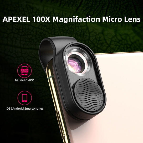 Microscope HD 100X For Mobile Phone Camera