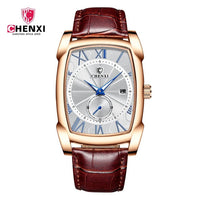 Men Watch- Genuine Leather Strap-Roman Numeral