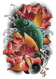 Koi and Lotus