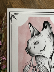Sphynx and Flowers