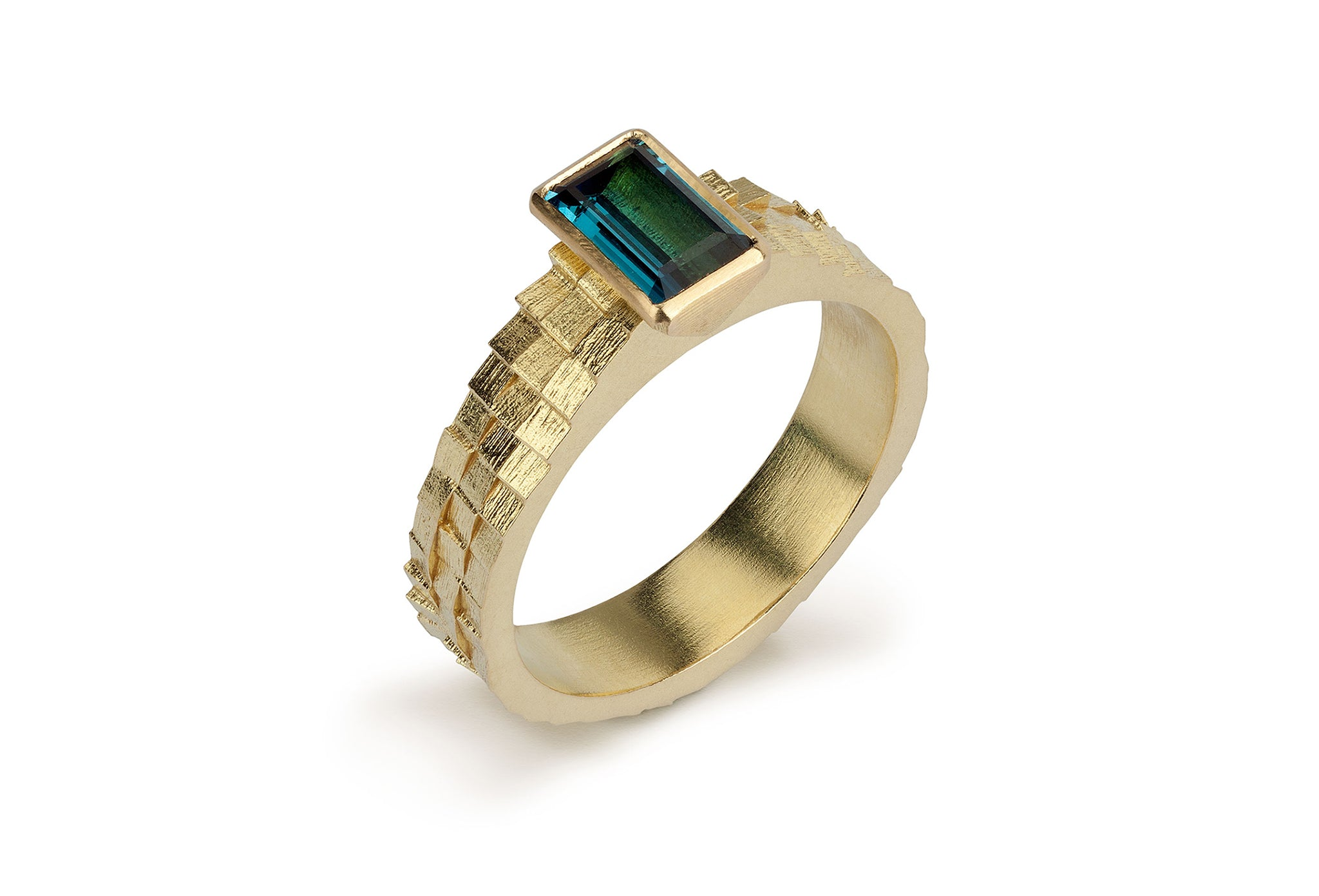 Triple Square Band with Tourmaline