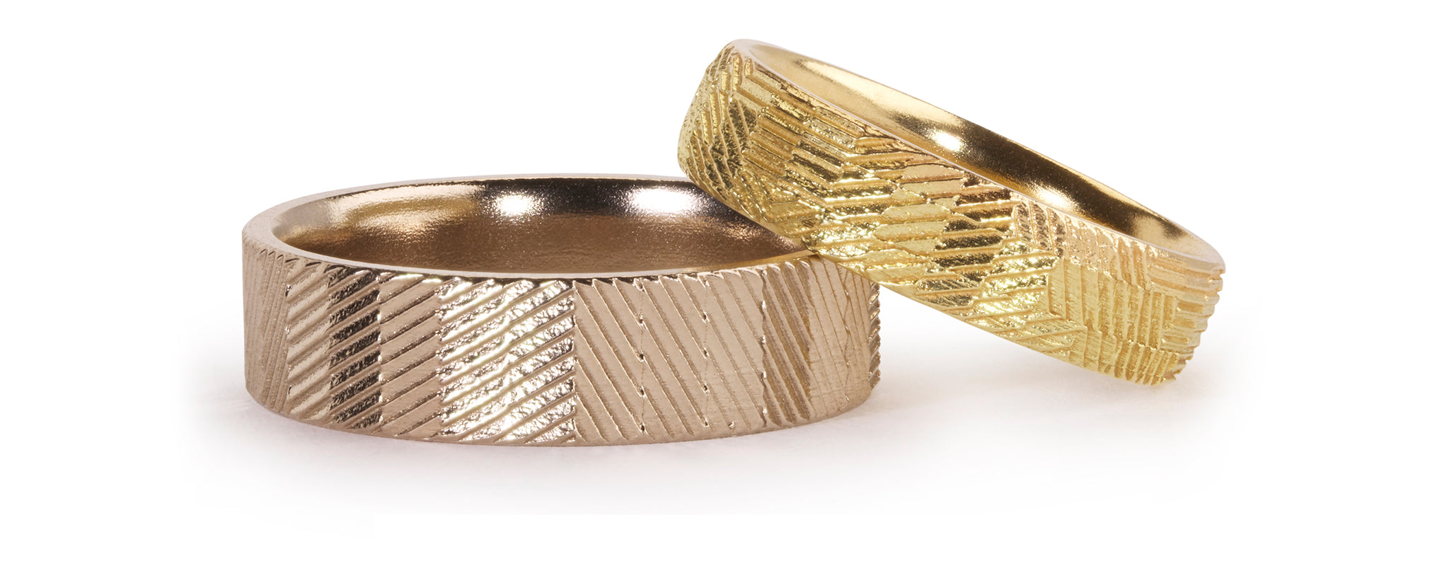 Contour wedding rings