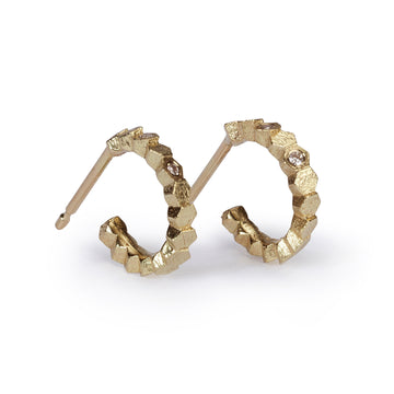 10mm Single Hex Hoop Earrings