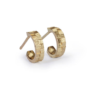 10mm double square hoop earrings