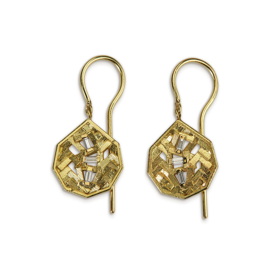 12mm chaos parquet koin drop earrings