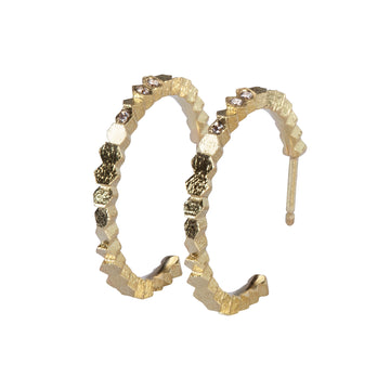 19mm Single Hex Hoop Earrings