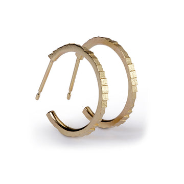 19mm single square hoop earrings